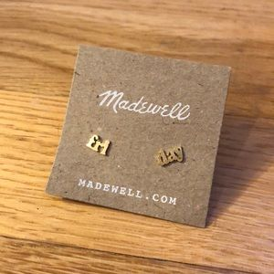 NWT MADEWELL Friday stud earrings